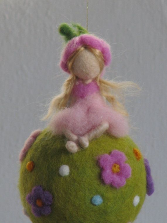 Waldorf inspired needle felted spring fairy by Made4uByMagic