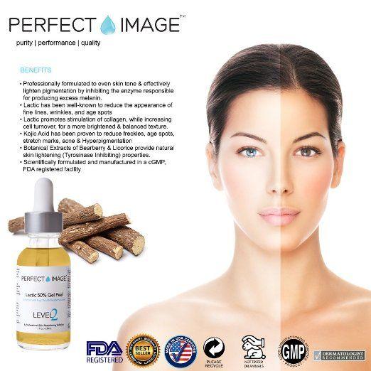 Banish Age Spots Wrinkles Lactic Acid 50 Gel Peel Enhanced