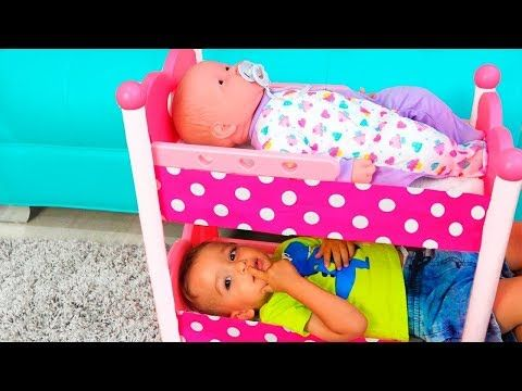 Crying Baby in Bed! Are you sleeping song Colored Dolls Bad Kids Colours Learning Video - YouTube