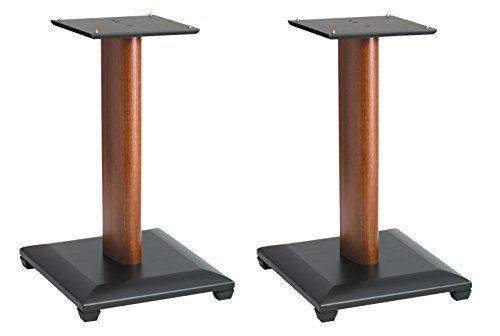 "Sanus Natural Series 18"" Speaker Stands for Medium to Large Bookshelf Speakers (Cherry) - NF18C"