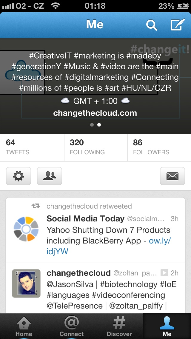 #clouds appeared on the @twitter #profileinfo #screen :)