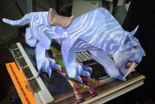 World of Warcraft - Saber Mount Free Papercraft Download…