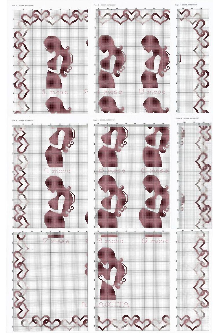 0 point de croix femme enceinte, grossesse - cross stitch pregnant girl, pregnancy