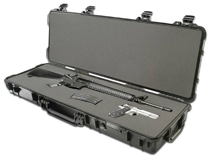 Peli offer a wide range of MIL Spec waterproof small arms cases including hand guns, rifle cases and shotgun cases along multi rifle transport cases