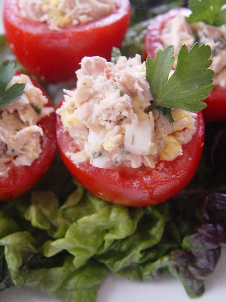 Tuna Salad Stuffed Cherry Tomatoes