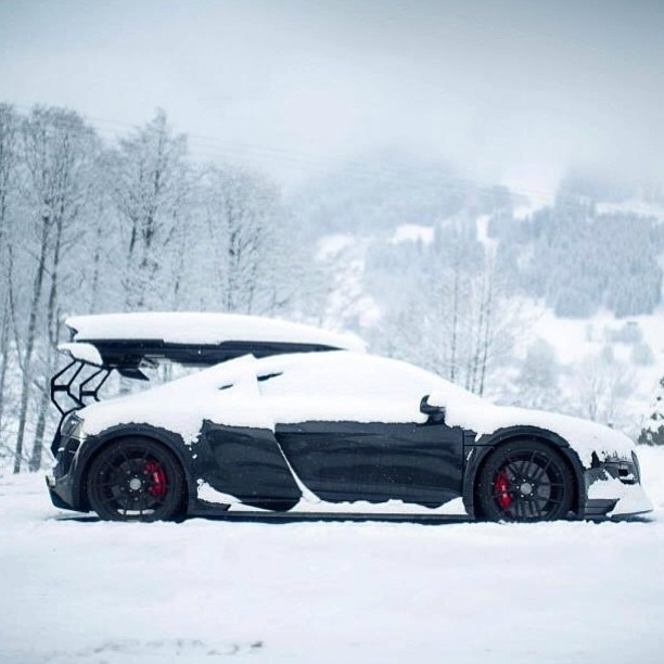 For all you guys in the U.S... This is Summer in England - Audi R8 is desperate to come out and play!