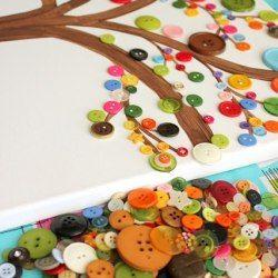 http://www.simplydesigning.net/2013/08/kids-craft-button-art.html Ideen zum Basteln