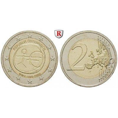 Österreich, 2. Republik, 2 Euro 2009, bfr.: 2. Republik seit 1945. 2 Euro 2009. 10 Jahre Währungsunion. bankfrisch 5,00€ #coins