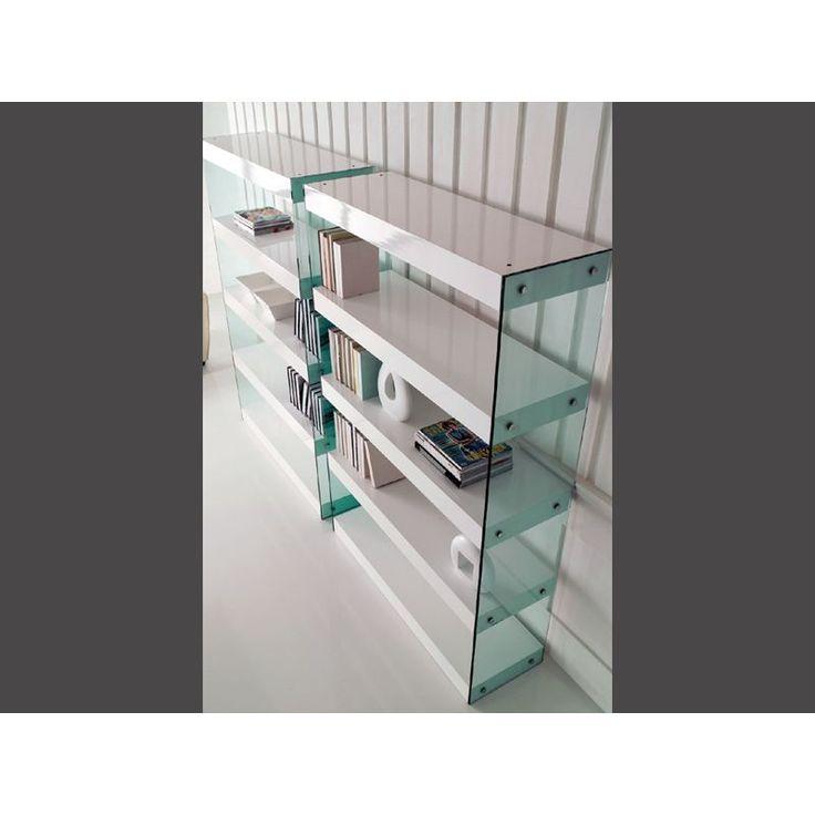 Βιβλιοθήκη Blow Κομψή βιβλιοθήκη για το σπίτι κάθε λάτρη του βιβλίου! Υλικά: κατασκευασμένη από λακαριστό MDF ξύλο και γυαλί.
