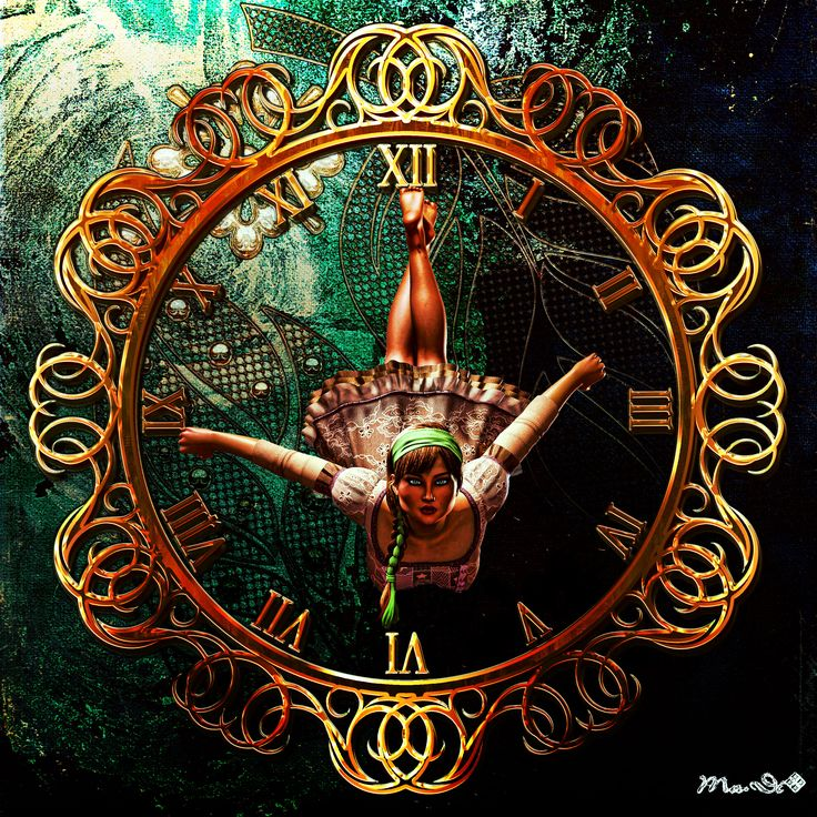 Photoshop + Poser pro, clock
