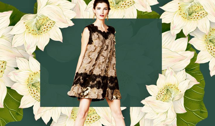 Wishing you a stylish year of the Snake - Dolce Spring Summer 2013 lace trapeze dress