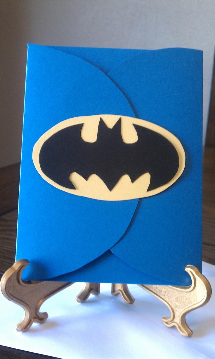 Handmade Batman Birthday Invitations -