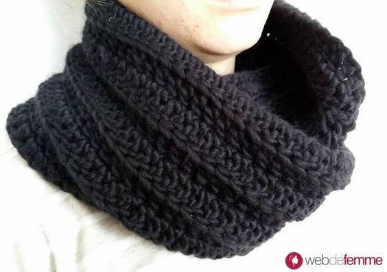 Tuto snood Col facile au crochet