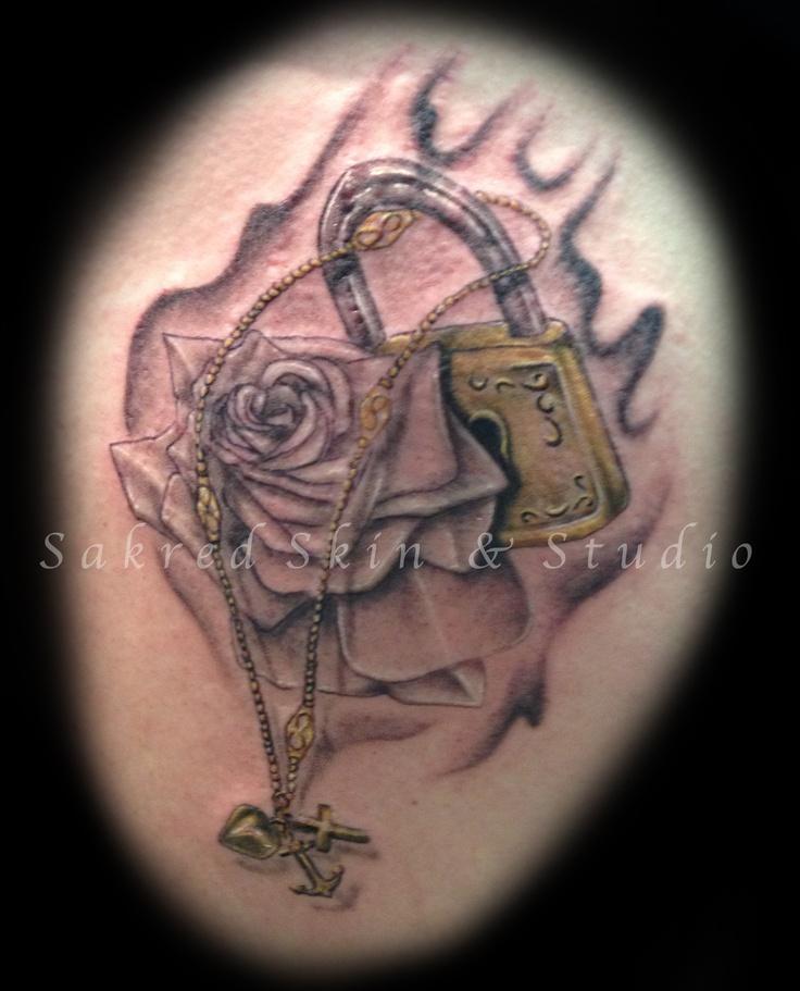 custom lock memorial tattoos