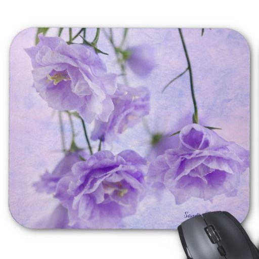 Purple Campanella Flowers Macro Mouse Pad