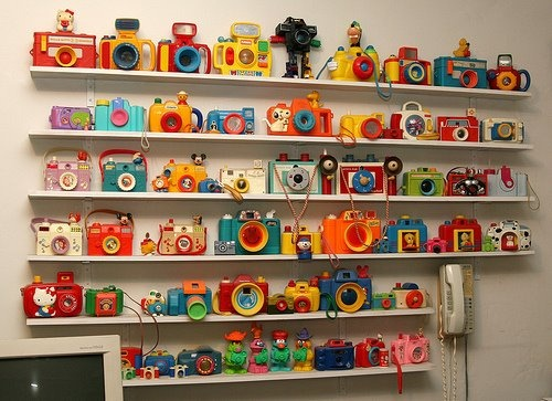 cameraToys Cameras, Kids Room, Vintage Cameras, Future Kids, Collection, Vintage Kids, Wall Display, Photography Studios, Kids Toys