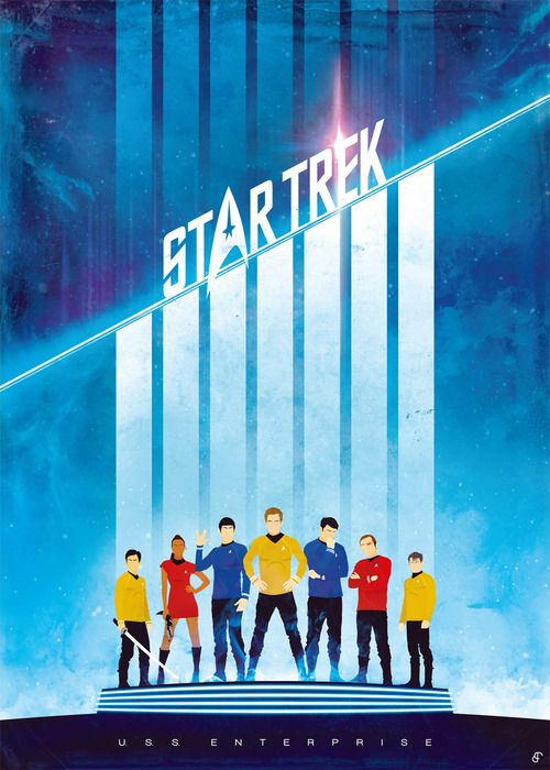 Star Trek poster by Patrick Connan