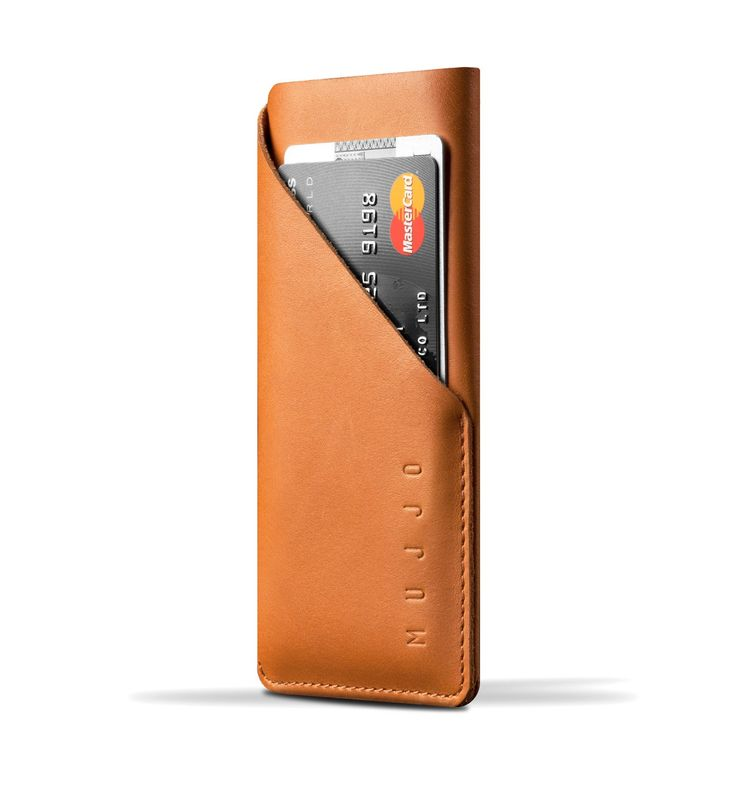 Leather Wallet Sleeve for iPhone 6 - Tan