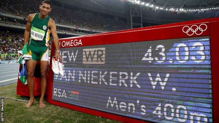 "South Africa's Wayde van Niekerk broke Michael Johnson's 17-year-old 400m world record to sensationally win Olympic gold at Rio 2016. The 24-year-old finished in 43.03 seconds, 0.15s quicker than the time Johnson clocked in Seville in 1999.  Grenada's Kirani James, the London 2012 champion, finished 0.73s behind to take the silver medal, with American LaShawn Merritt in bronze. ""He put those guys away,"" said Johnson, who won two Olympic 400m titles."