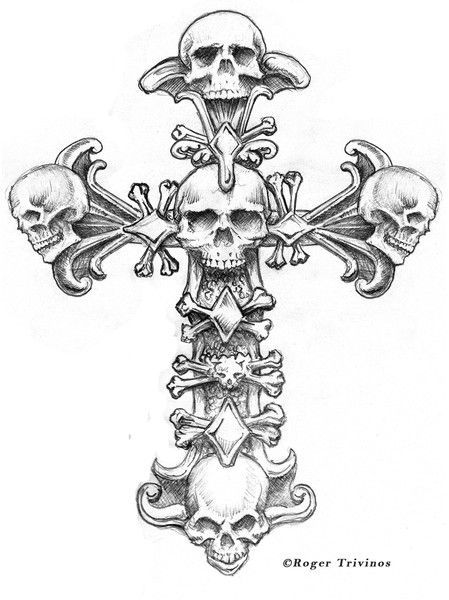 61 best Gothic Crosses images on Pinterest Skull And Cross Drawing