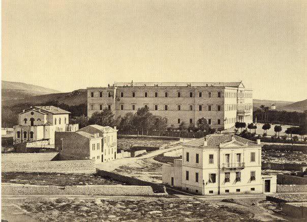 Ανάκτορα, σημερινή Βουλή, 1880.