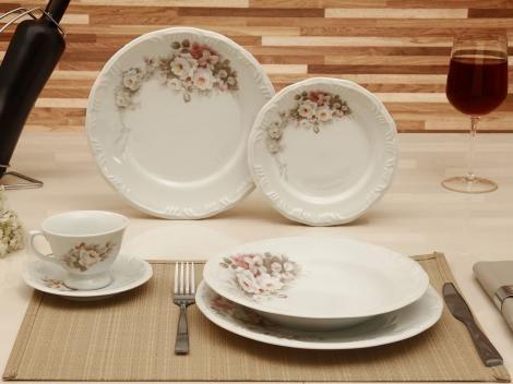 Aparelho de Jantar 30 Peças Floral em Porcelana com as melhores condições você encontra no site do Magazine Luiza. Confira!
