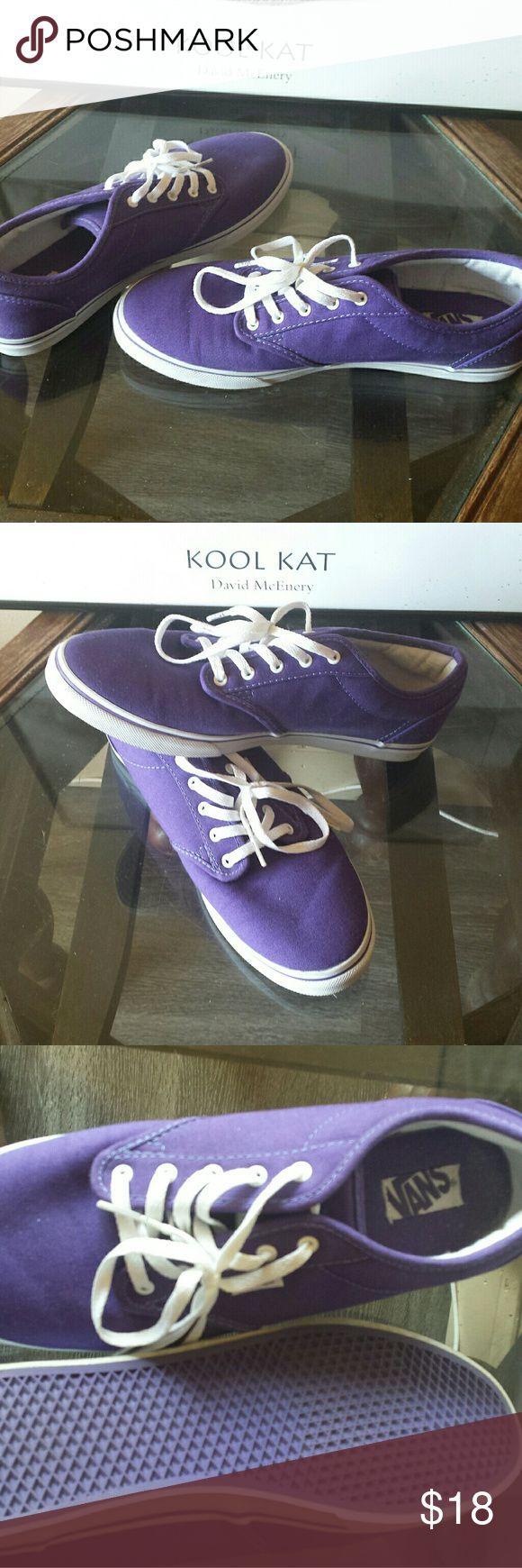 Womens vans sneakers ...size 8.5 Nwot..never worn purple vans..fashionable! Vans Shoes Sneakers