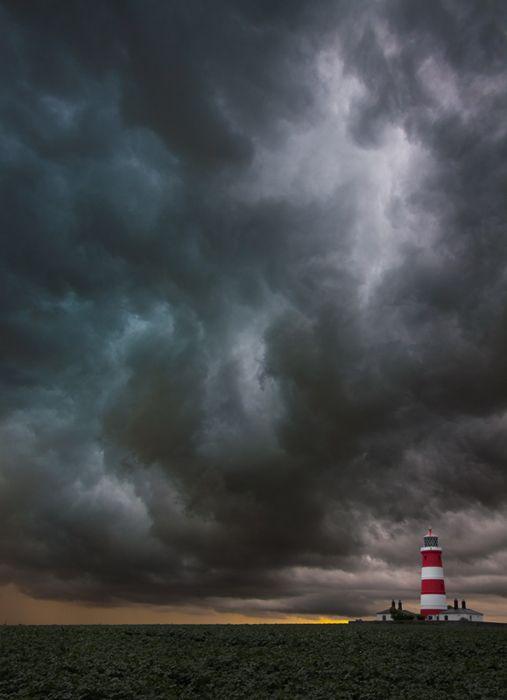 Summer storm over Happisburgh Lighthouse, England