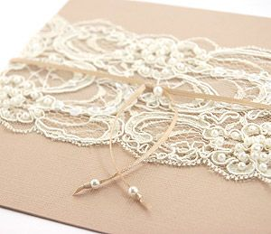 Lace Covered Invitations? Yes. Def yes. Now get your own idea