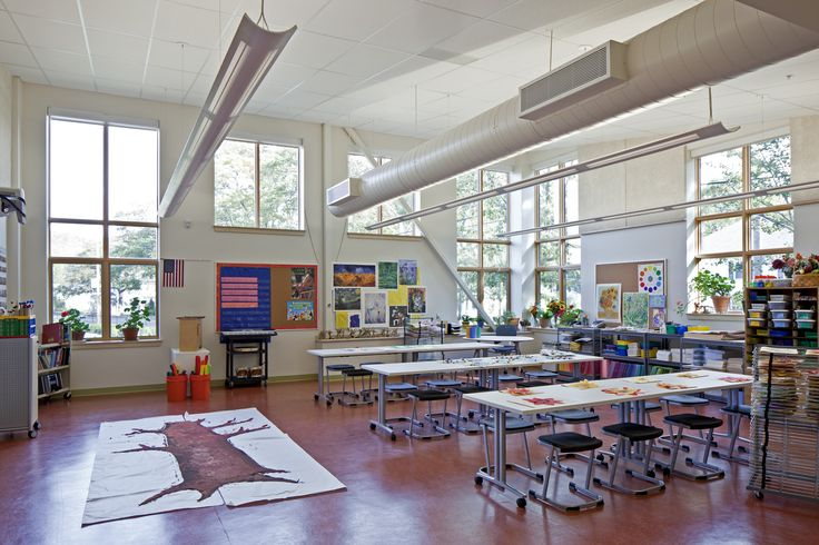 Art room design harriet beecher stowe elementary school for Art room decoration school