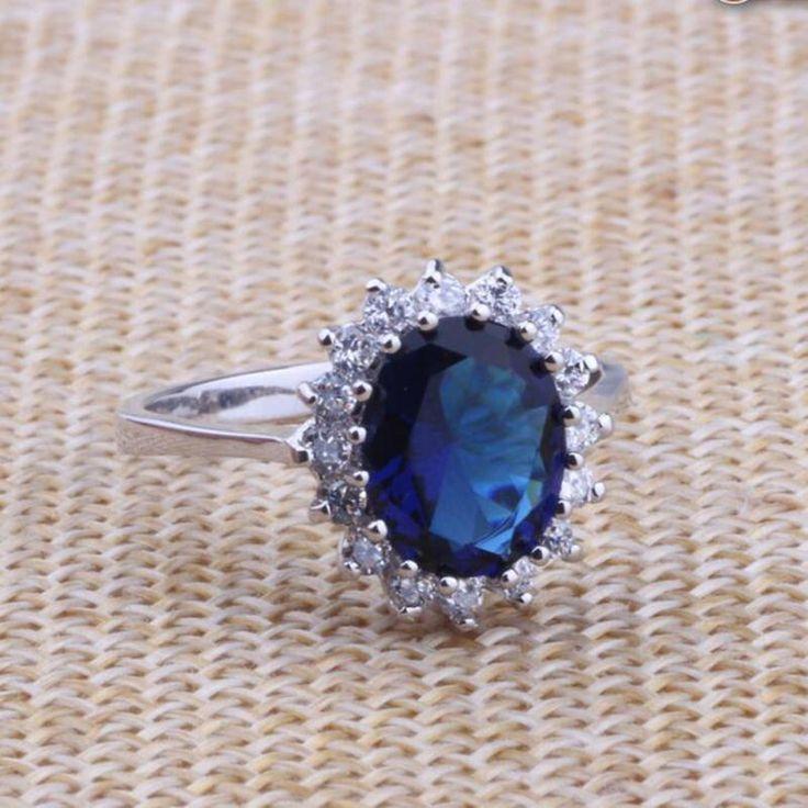 Imixlot 2017 limitata impianto anelli gioielli anelli nuovo arrivo reale britannica principessa kate anello di fidanzamento diana prince william