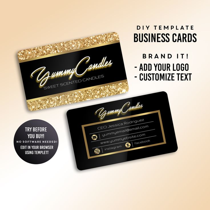 Business Cards, Candle Business Card, Lash Business Card