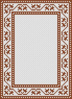 Free cross stitch pattern - frame border for cross stitch.