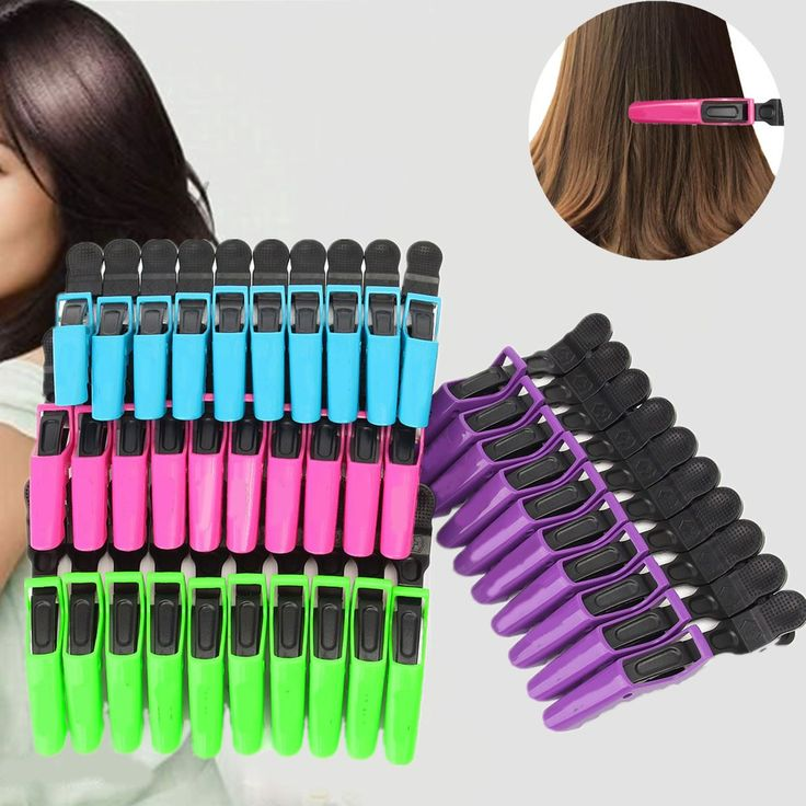 10Pcs Sectioning Clips Clamps Pro Hairdressing Salon Section Hair Clip Grip Crocodile DIY Accessories Hairpins Hair Care Styling #Affiliate