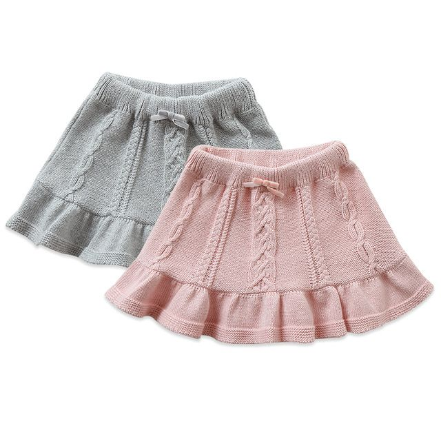 Davebella autumn female child infant baby sheep wool knitted ruffle 34207 miniskirt