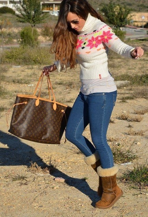 creative blue ugg boots outfit 14