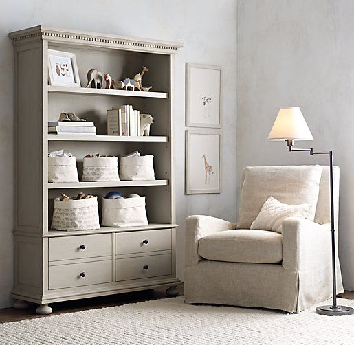 Restoration Hardware Nursery Canvas Storage  Super obsessed with Nursery Designs = Must be a crazy want of mine ;)