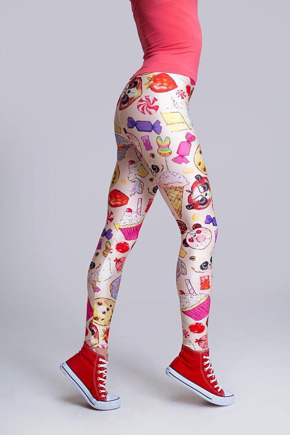 Colorful Pants, Summer Leggings, Women Maxi Pants, Long Leggings, High Waisted Leggings, Festive Pants, Party Leggings, Sport Leggings