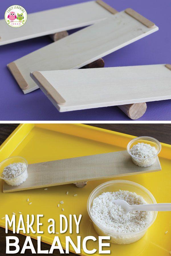 How to Make a DIY Balance: STEM Activities for Preschoolers