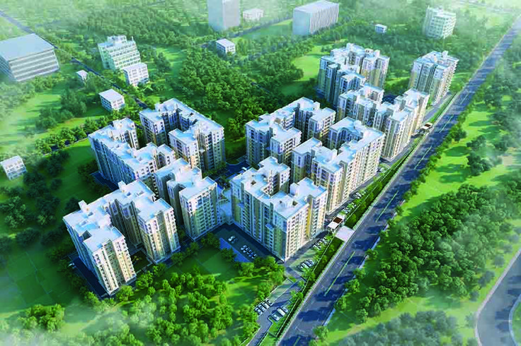 #Southwinds #elevation #Apartments #Kolkata #Realestate #flats