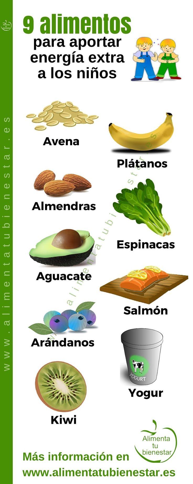 Alimentos para un aporte de energía extra en niños #alimentatubienestar                                                                                                                                                                                 Más