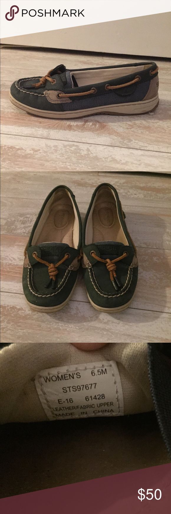 Sperry Angelfish boat shoe Blue Angelfish boat shoe. Good condition Sperry Shoes