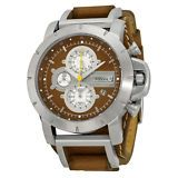 [$66.99 save 47%] Fossil Chronograph Brown Leather Strap Mens Watch JR1157 #LavaHot http://www.lavahotdeals.com/us/cheap/fossil-chronograph-brown-leather-strap-mens-watch-jr1157/134046