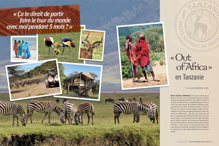 """""""Out of Africa"""" en Tanzanie"""
