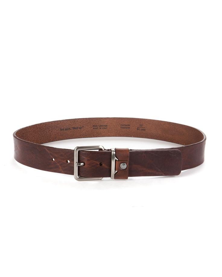 Duke Mens D555 Ashton Kingsize Leather Belt With Metal Keeper DC154