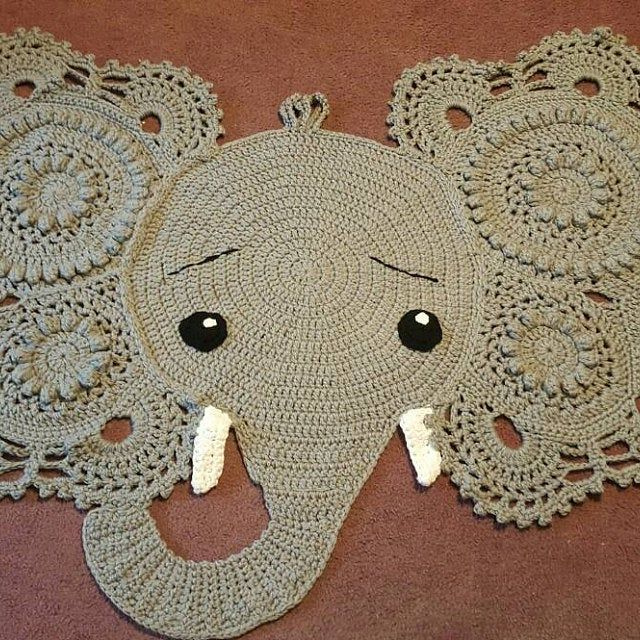 Crochet Pattern Pinky The Piggy Rug Pdf Crochet Pattern With Etsy Crochet Patterns Red Heart Super Saver Yarn Animal Rug