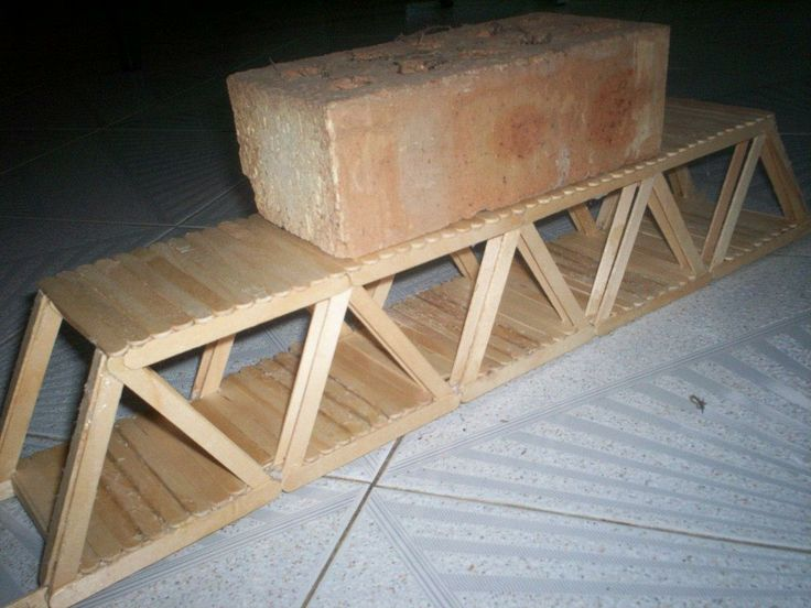 bridge made out of popsicle sticks - Google Search