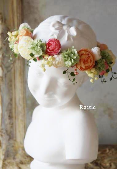 2013.1.23 花冠とリストレットと新郎新婦さま