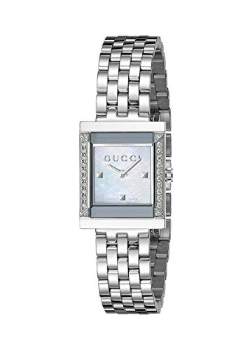 e24cb02510e Gucci G Frame Timeless Stainless Steel B26 Square Shape Dress Women s Watch (Model YA128405)