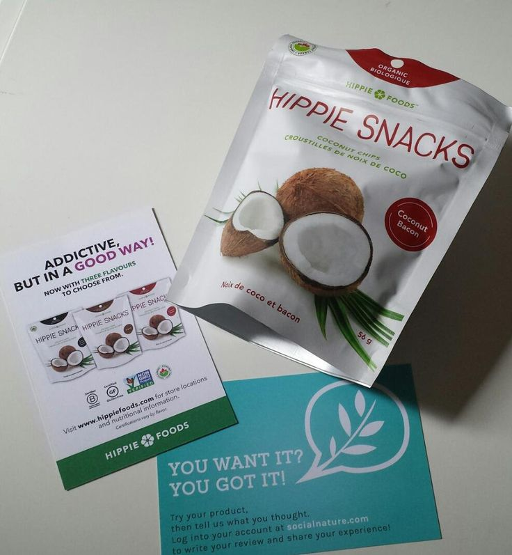 """Lindsay Carmichael on Twitter: """"Another @SocialNature treat! Can't wait to devour these @HippieFoods BACON coconut chips! #trynatural #hippiesnacks http://t.co/RXLdNpwlKy"""""""